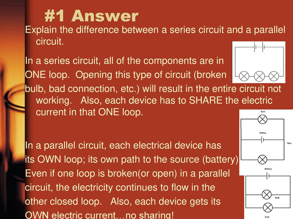 Waves And Electricity Test Study Game Ppt Download Overview Of Series Parallel Circuits Types Electrical 1 Answer Explain The Difference Between A Circuit In