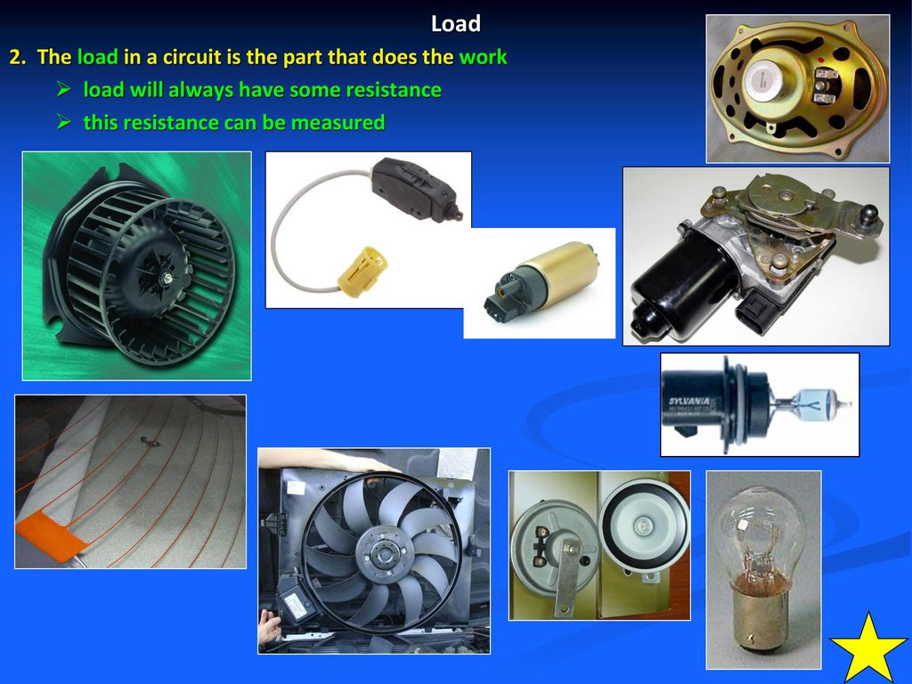 Automotive Electrical Systems Ppt Download Circuits The Load In A Circuit Is Part That Does Work