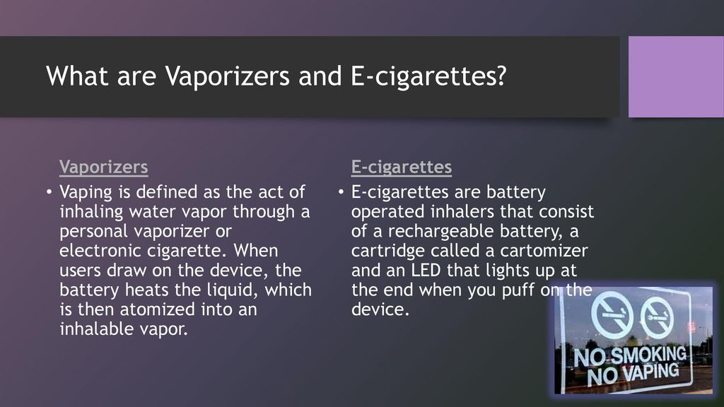 E-cigarettes/Vaporizers- Vaping - ppt download