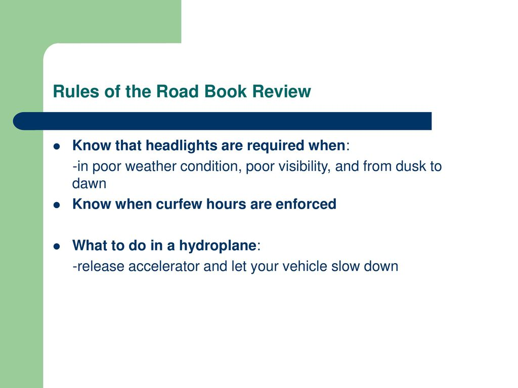 Rules of the Road Book Review