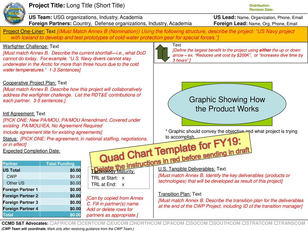 Quad Chart Template for FY19: - ppt download