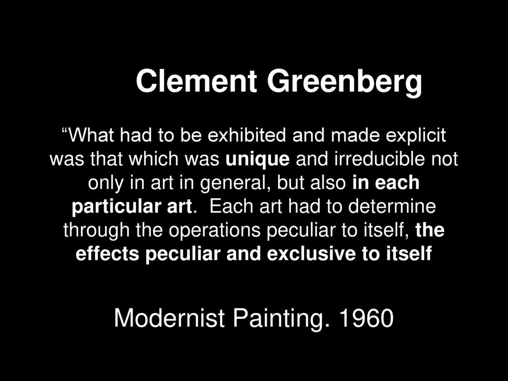 greenberg clement modernist painting