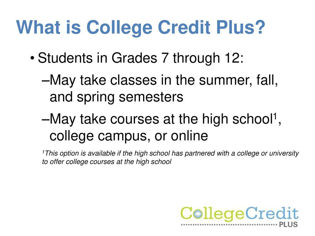 College Credit Plus September ppt download