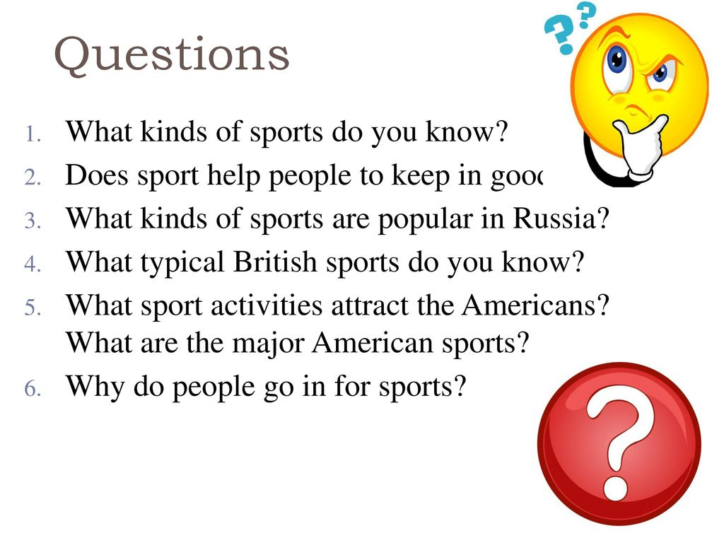 Why do people go in for sports and why
