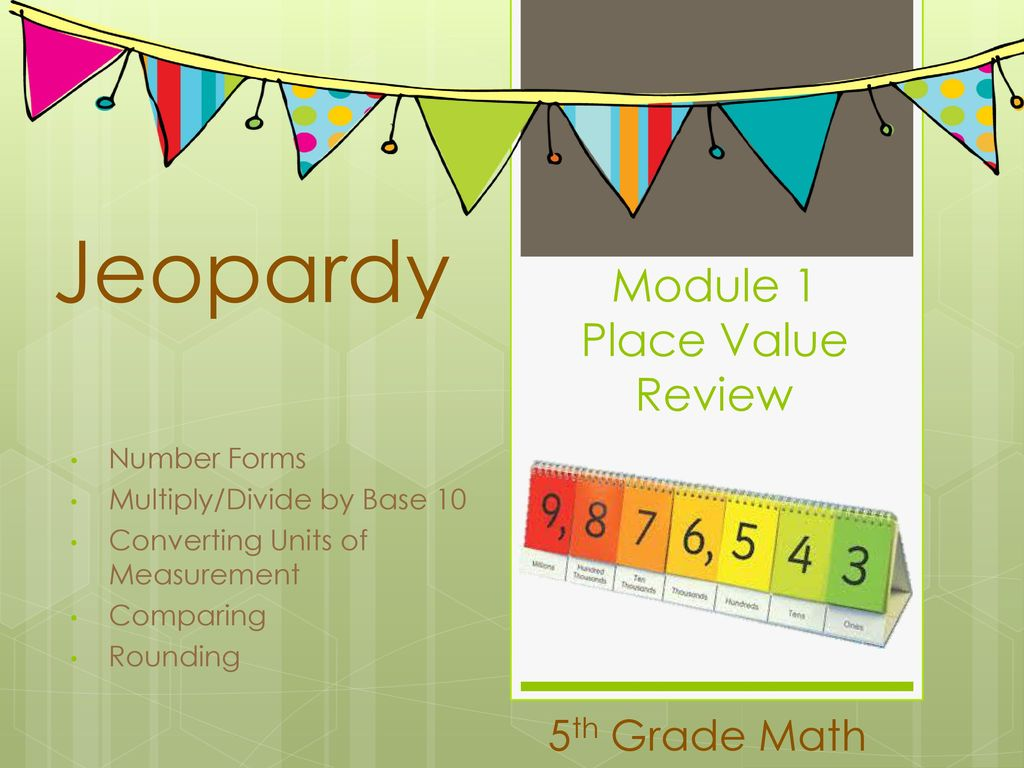 module 1 place value review - ppt download