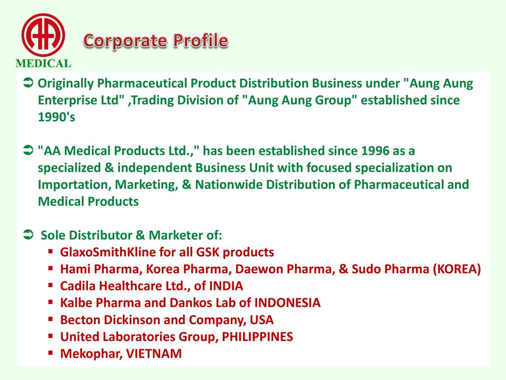 Corporate Profile  - ppt download