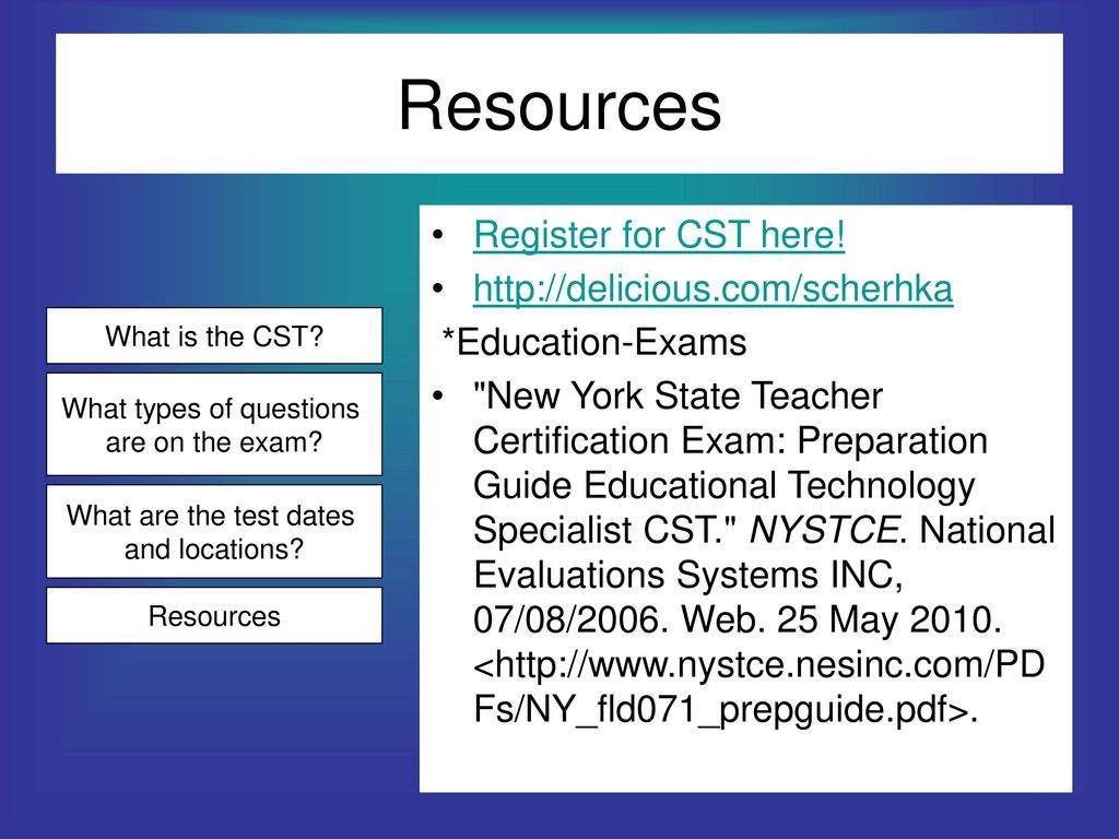 Nystce Cst Educational Technology Specialist Ppt Download