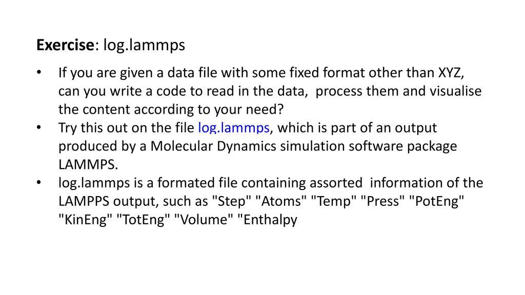 Vmd Lammps Data File