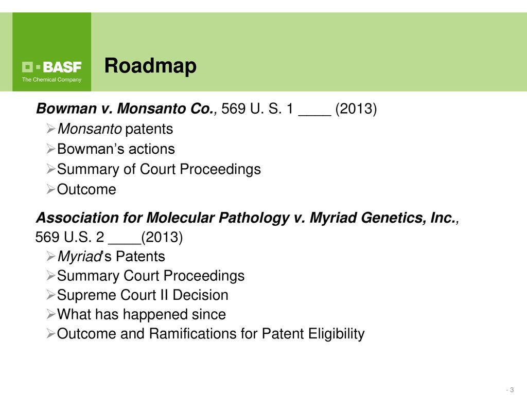 "The ""Bowman"" and ""Myriad"" Supreme Court Decisions - ppt download"