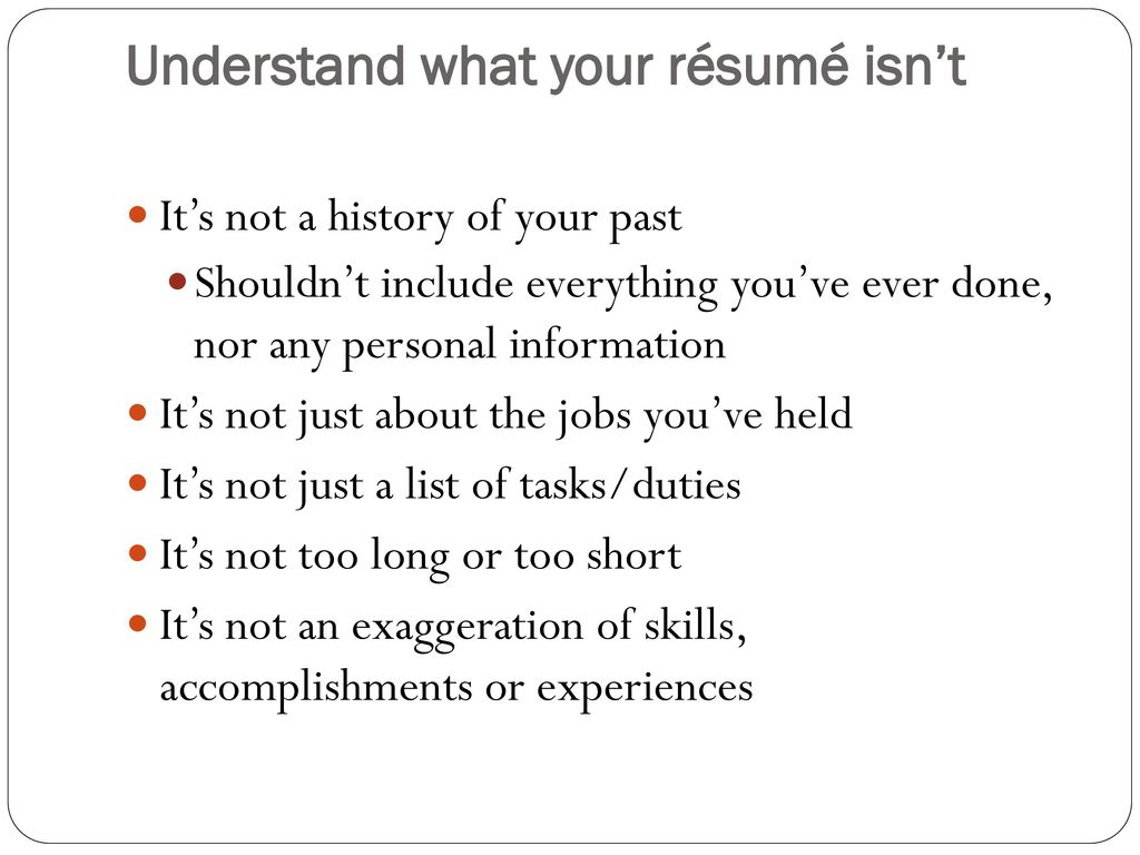 Tips For Writing A High Impact Resume