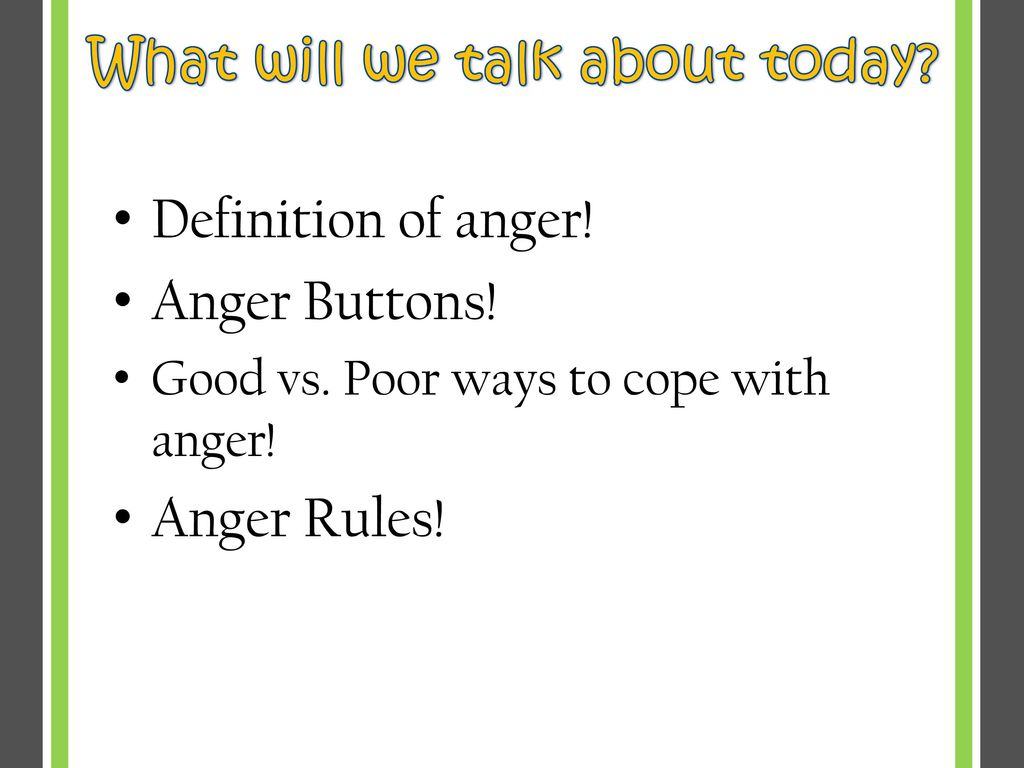 learn all about anger and healthy ways to cope! - ppt download