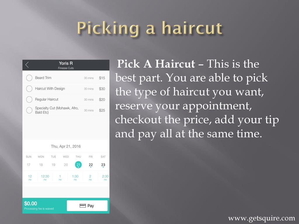 Squire Barber Appointment App Ppt Download