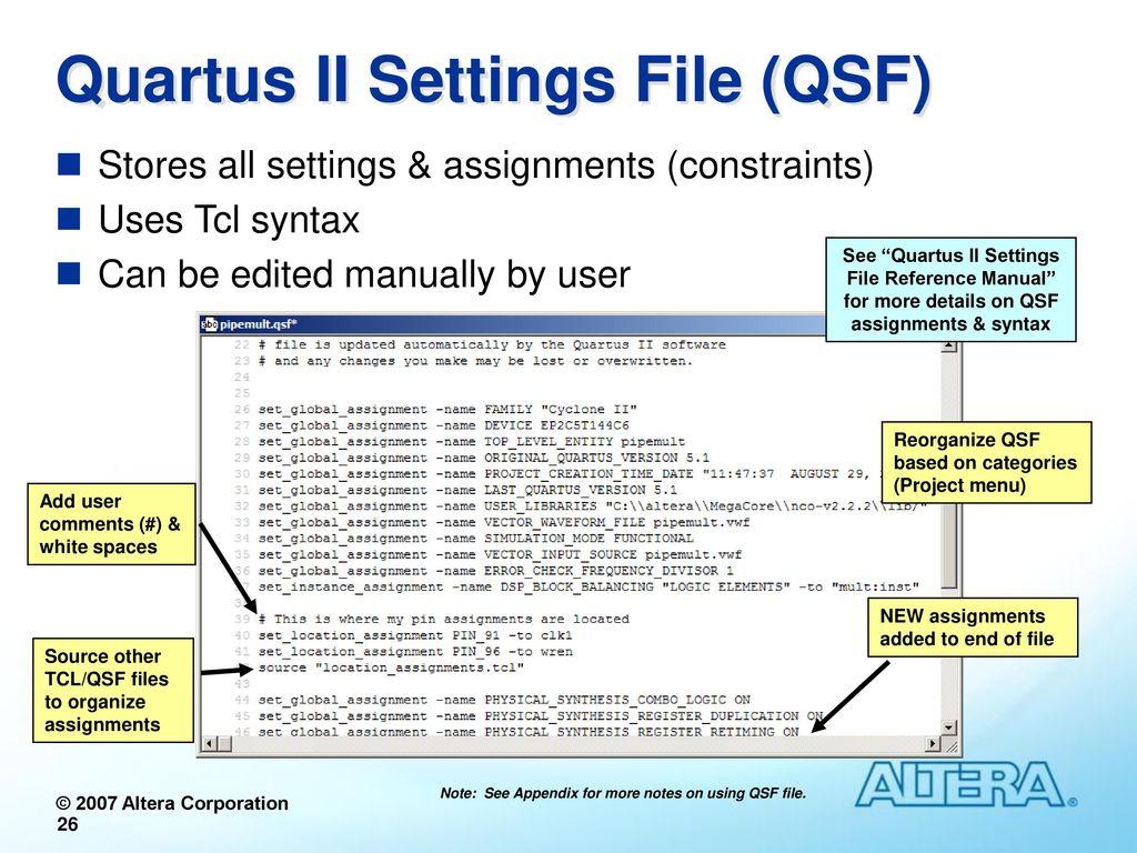 Quartus II Software Design Series : Foundation - ppt download