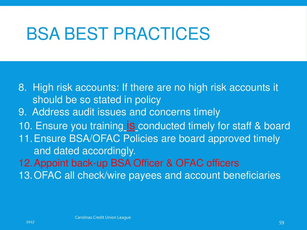 BSA/AML & OFAC Staff Training - ppt download