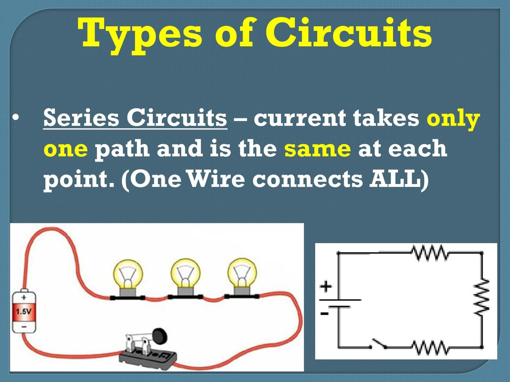Electrical Circuits Ppt Download Series Parallel Types Of Current Takes Only One Path And Is The Same At