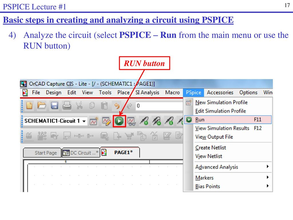 Introduction To Pspice Ppt Download What Circuit Simulator Does Everyone Use Page 1 Basic Steps In Creating And Analyzing A Using