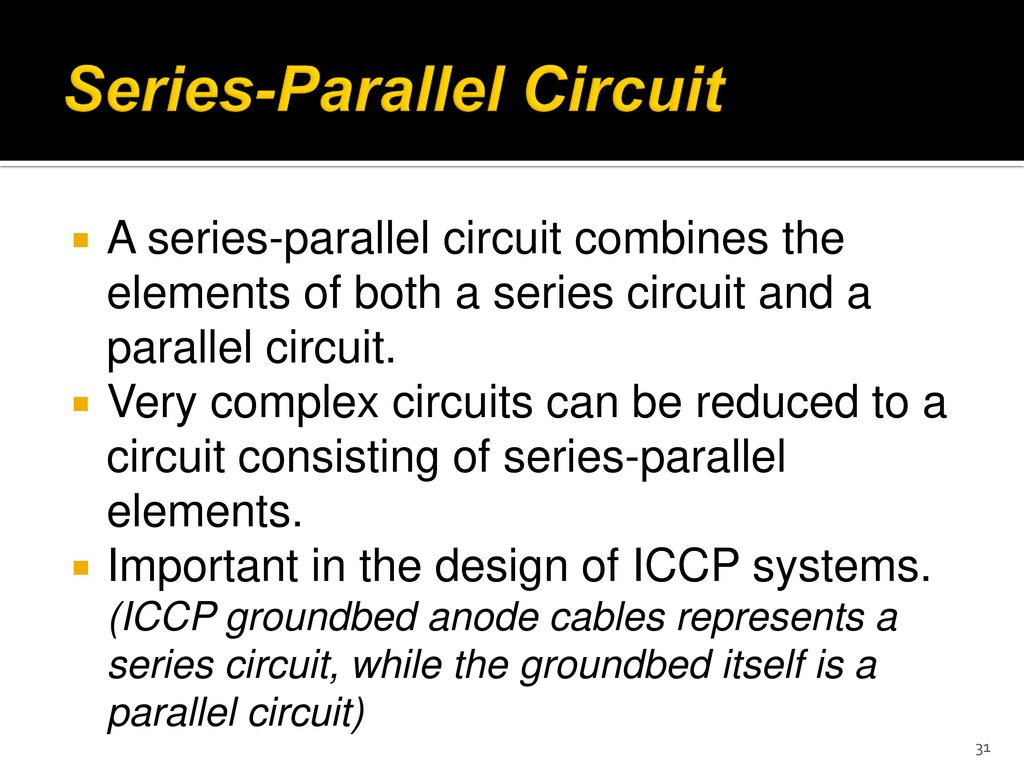 Metl 2441 Cathodic Protection Lecture1 Ppt Download Create A Circuit Consisting Of Three Resistors In Series 31 Parallel