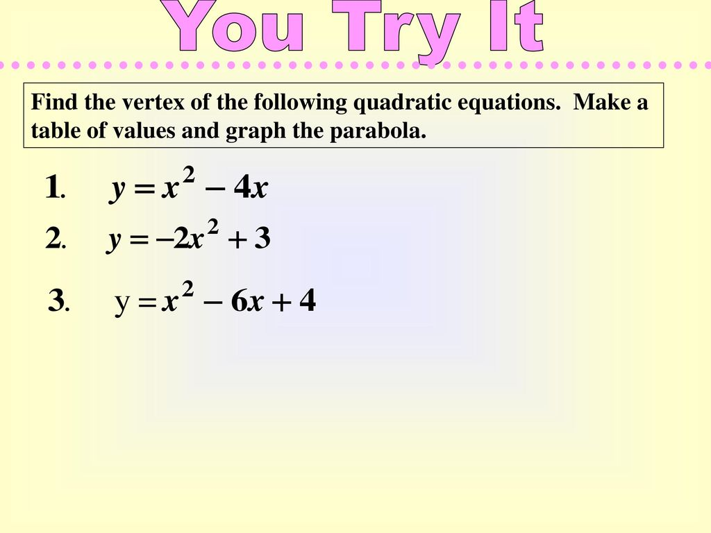 how to graph quadratic equations standard form. - ppt download