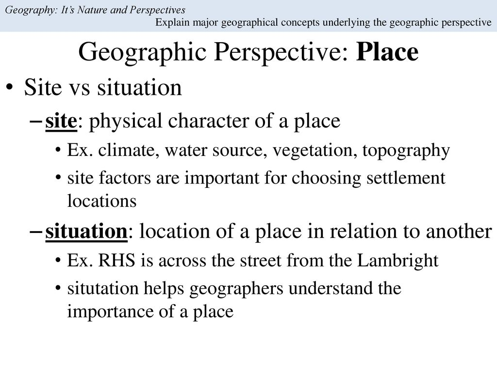 Geography: It's Nature and Perspectives - ppt download