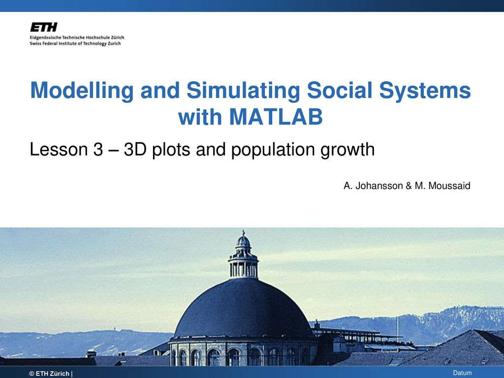 Modelling and Simulating Social Systems with MATLAB - ppt