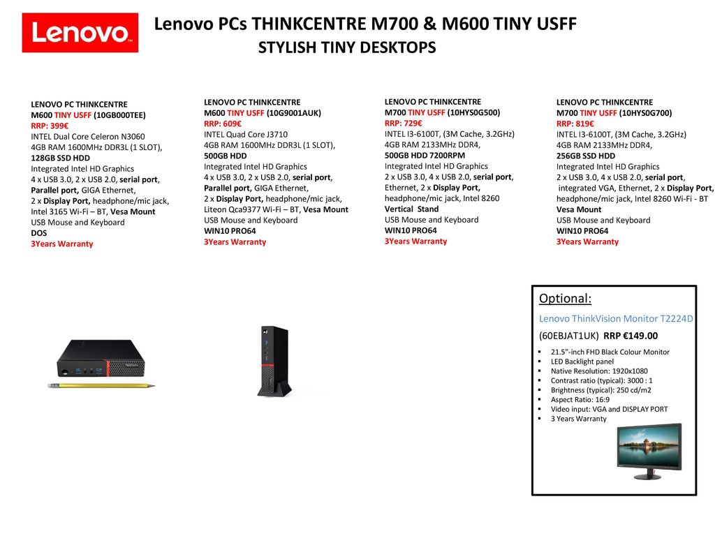 All in One PCs and Thinkstation PCs - ppt download
