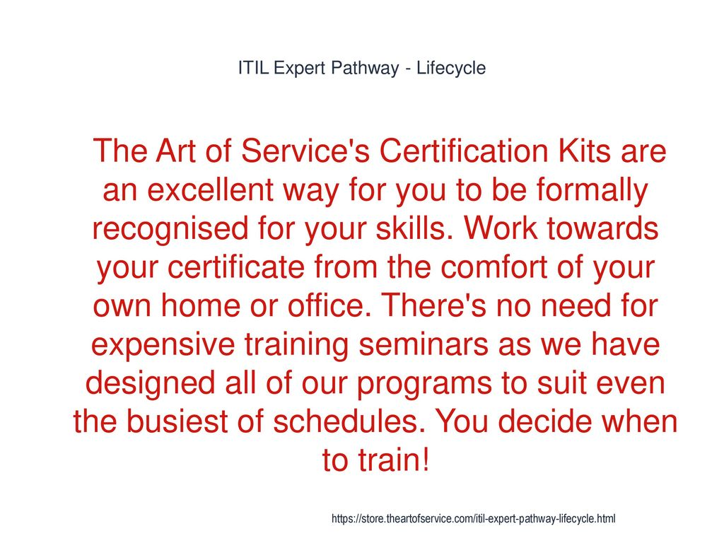Itil Expert Pathway Lifecycle Ppt Download