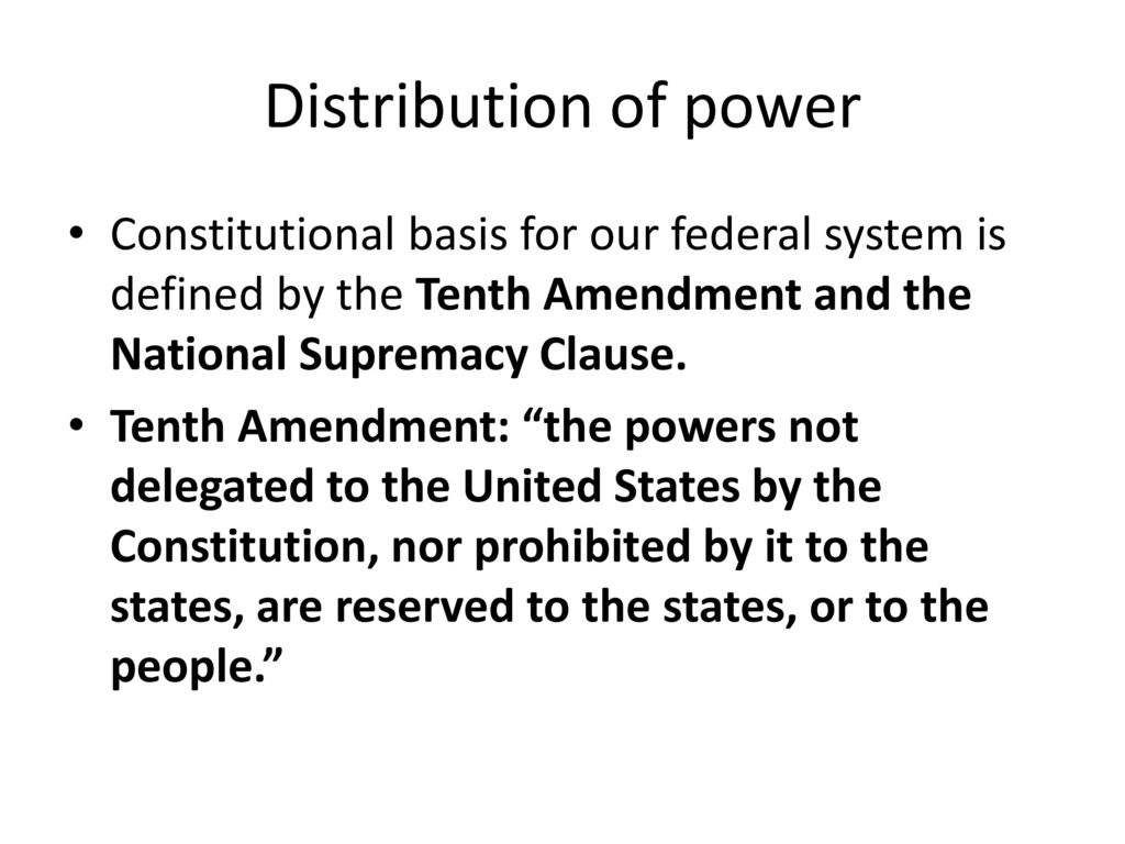 federalism and the texas constitution - ppt download
