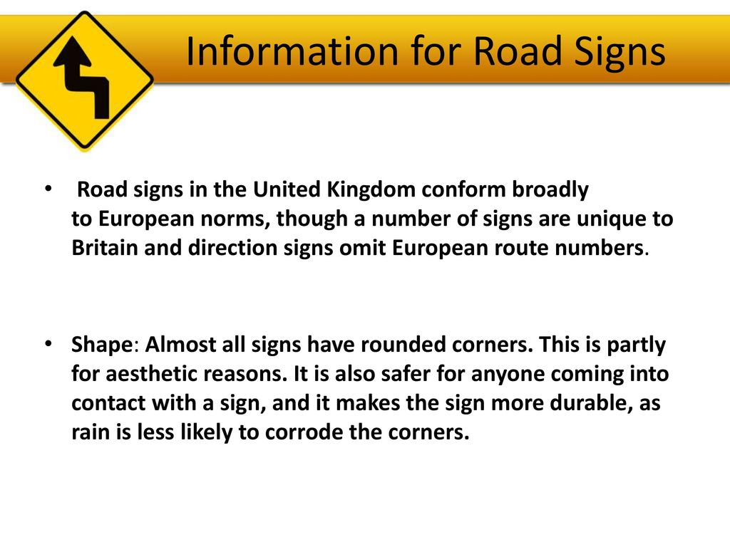 British Road Signs Ppt Download