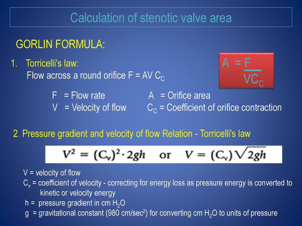 Valve Area calculation & Shunt Detection And Quantification