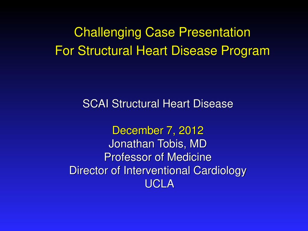 Challenging Case Presentation For Structural Heart Disease