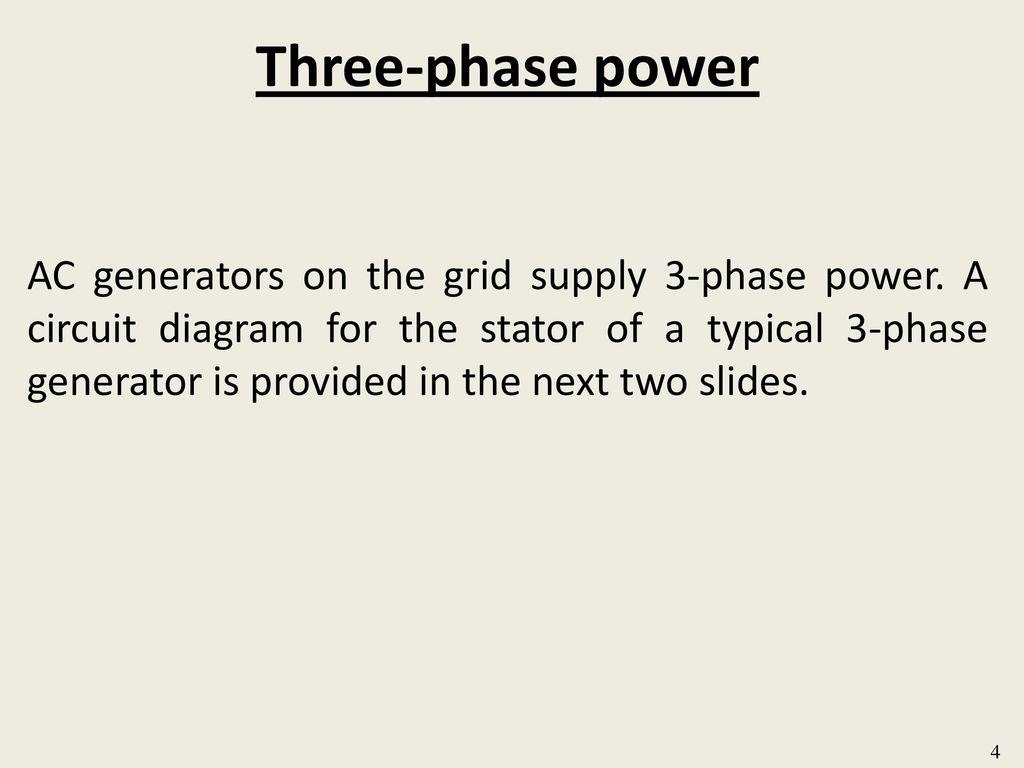 Module B3 31 Sinusoidal Steady State Analysis Single Phase A Ac Generator Voltage Wiring Diagram 4 Three Power