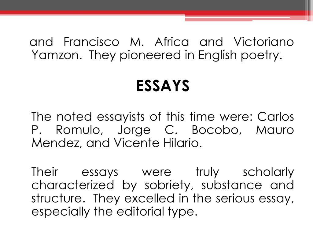 carlos p romulo essays