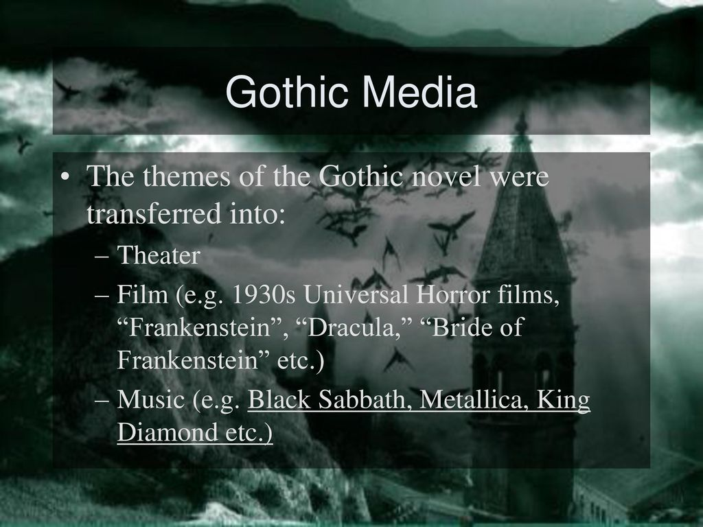 Gothic Horror A Brief History  - ppt download