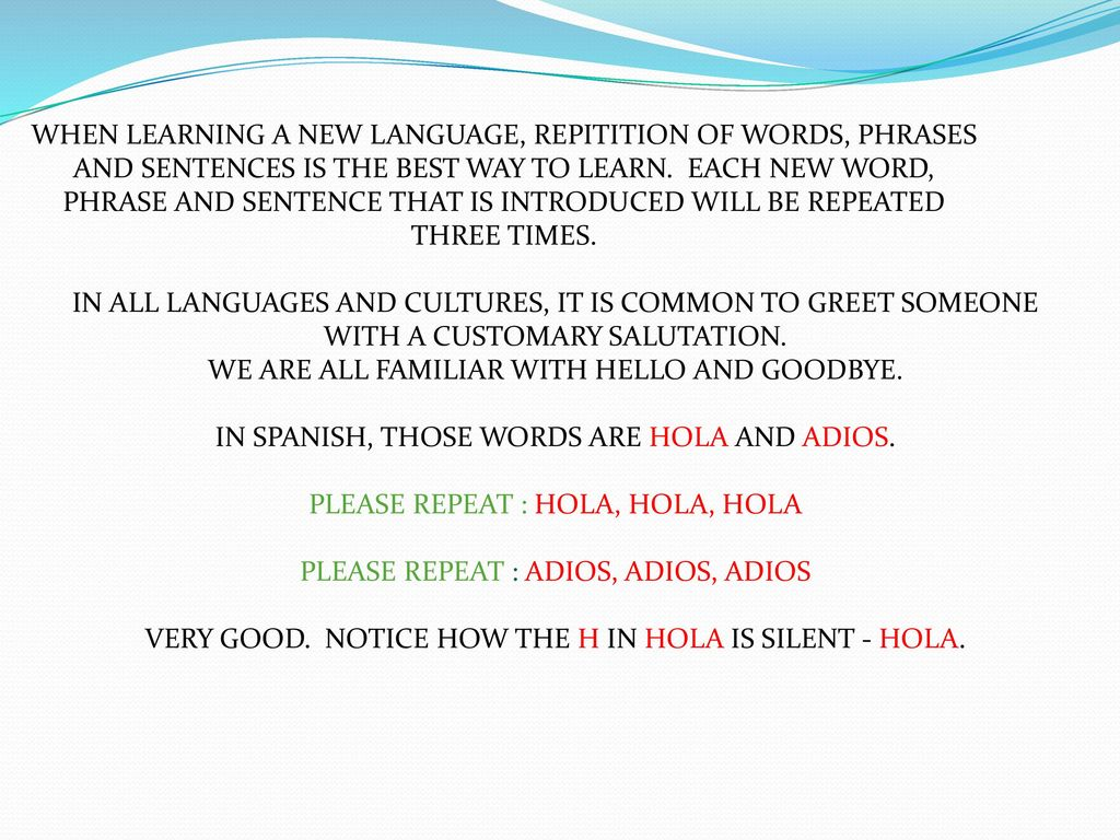 Welcome To Spanish For Beginners Ppt Download
