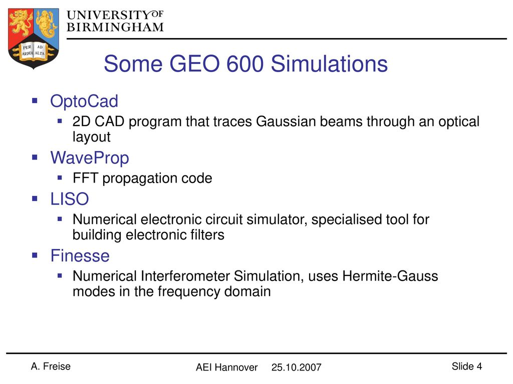 Geo 600 Simulation Workshop Ppt Download Electronic Circuit Simulator 4 Some