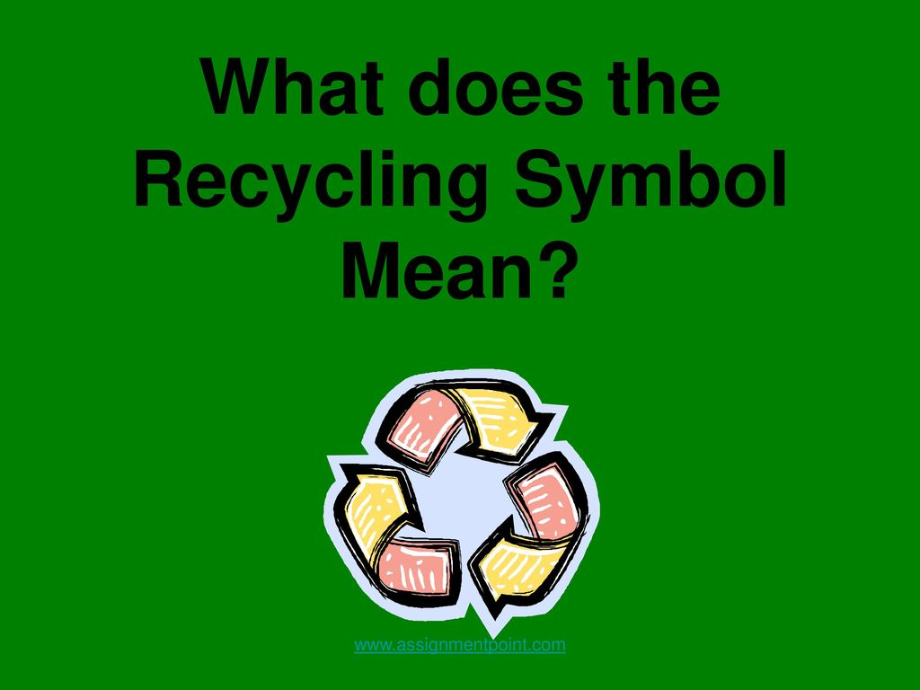 How To Recycle Ppt Download