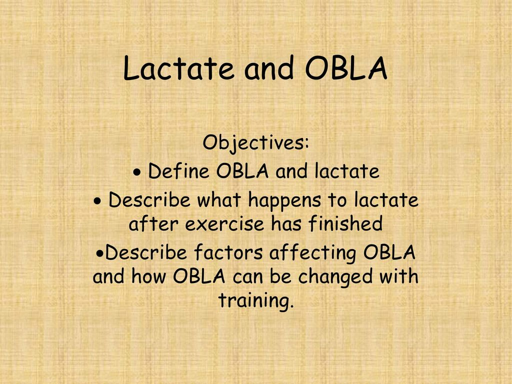 difference between obla and lactate threshold