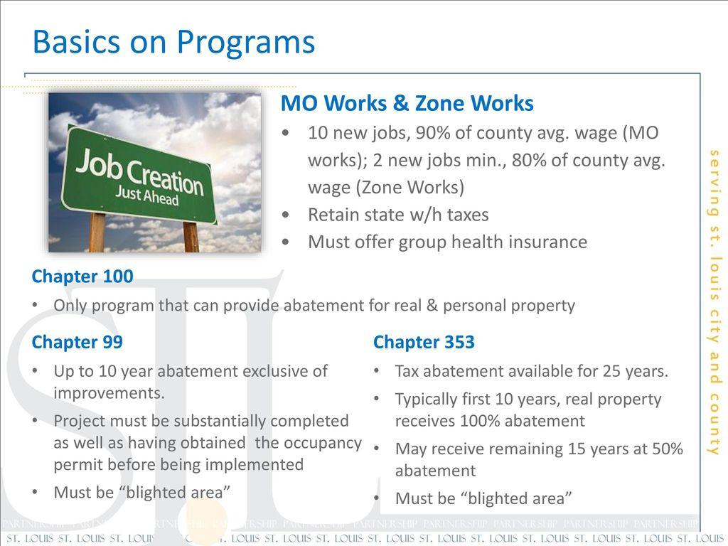 Basics On Programs Mo Works Zone