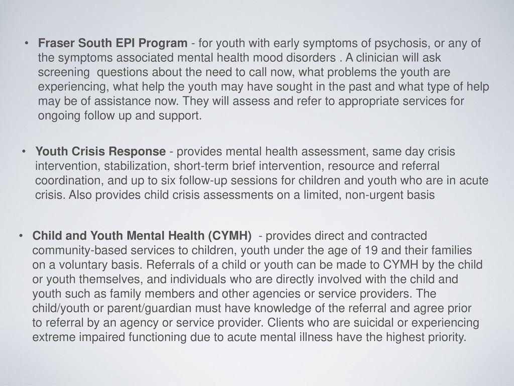 Addressing Mental Health Concerns At School Ppt Download