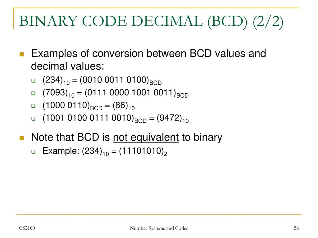 Cs2100 Computer Organisation Ppt Download Bcd To Binary Coded Decimal Converter Data 56