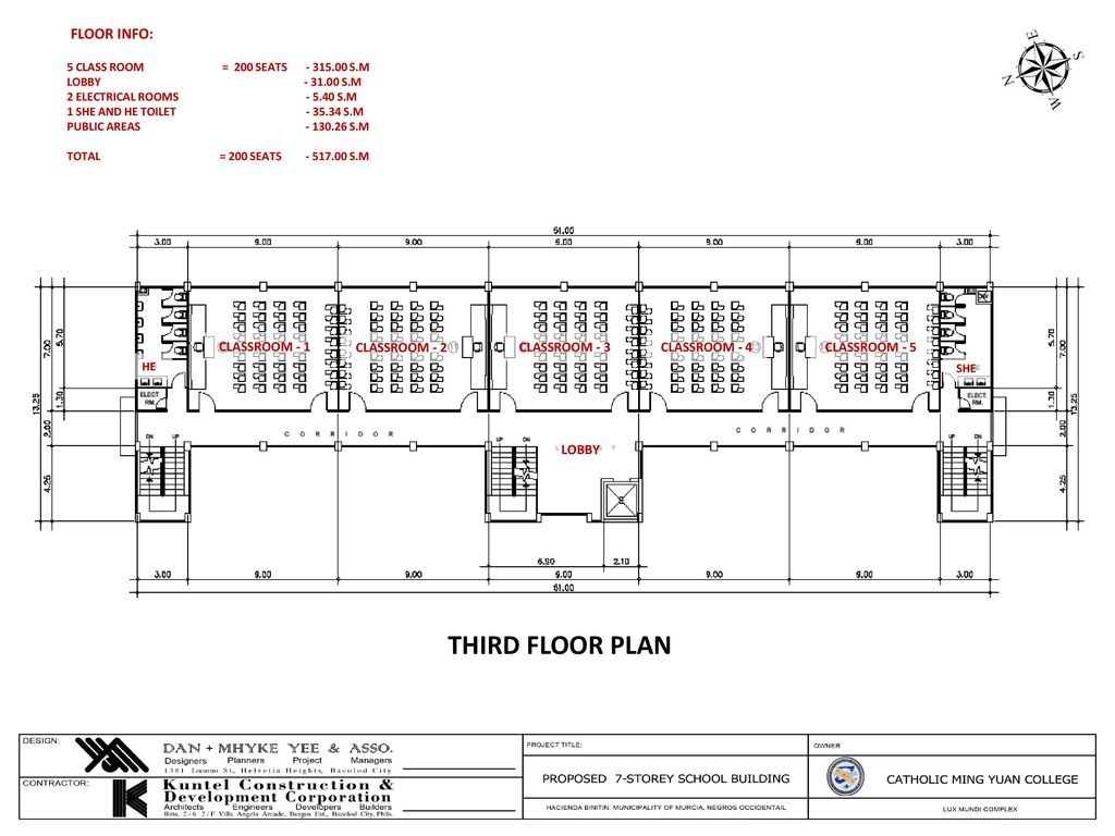 Location Map Proposed 7 Storey School Building Murcia Town Proper 2 Electrical Plan Third Floor Info