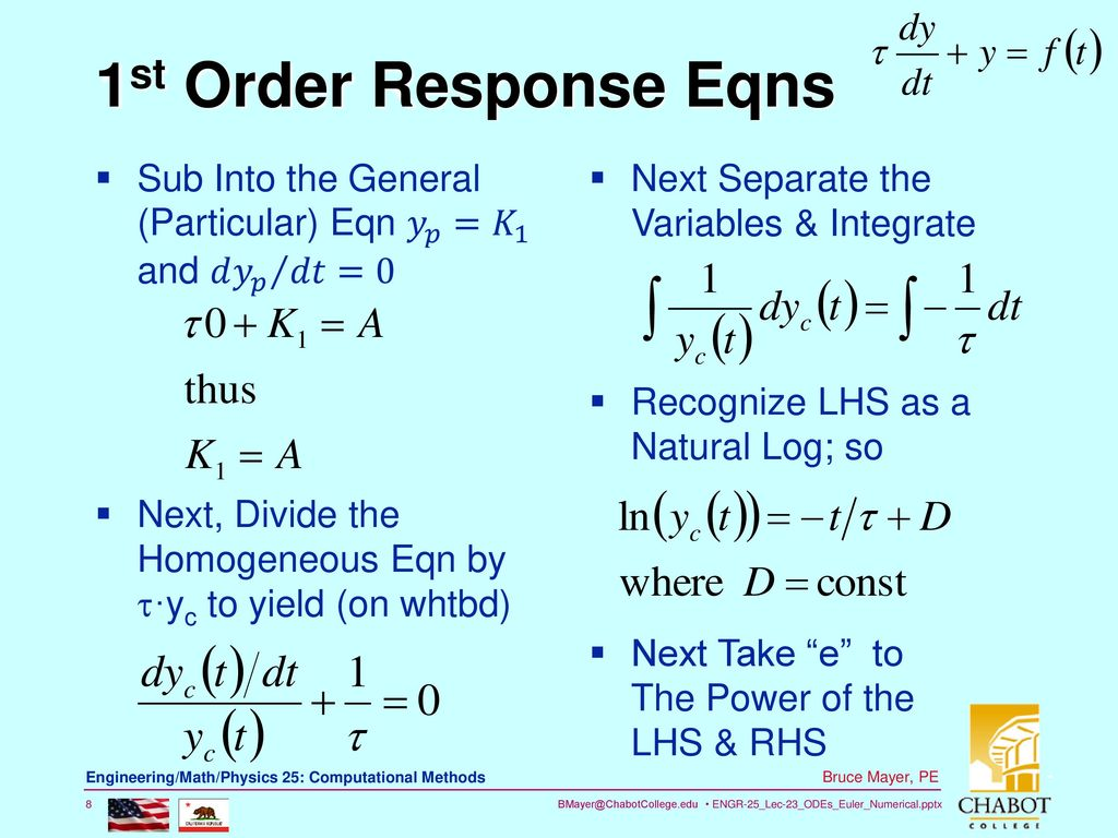 Chp9: ODE\'s Numerical Solns - ppt download