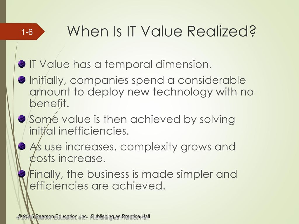 Section 1 Delivering Value With It Ppt Download
