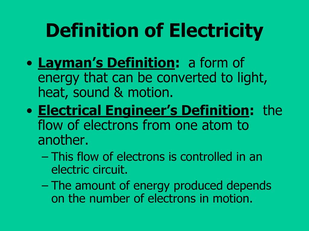 Electrical Principles Terminology And Safety Ppt Download House Wiring 2 Definition Of Electricity