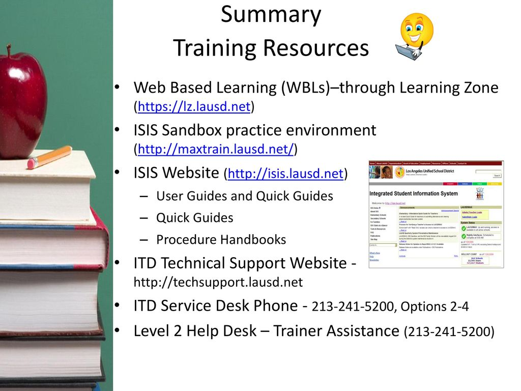51 Summary Training Resources