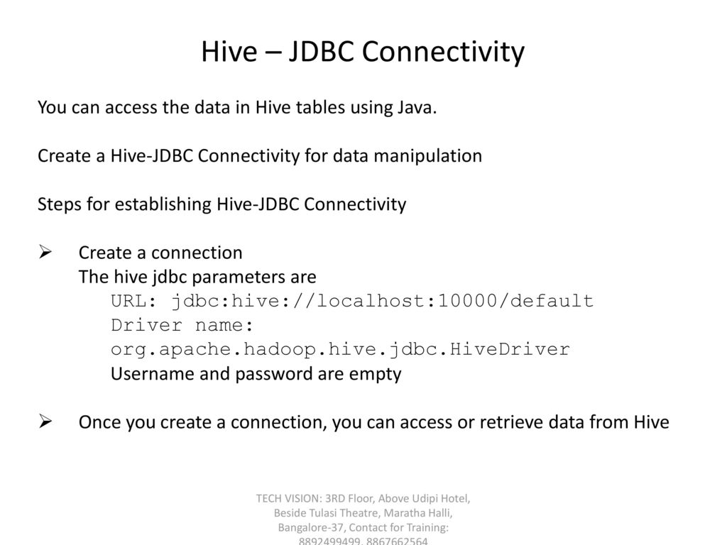 HIVE Fundamentals TECH VISION: 3RD Floor, Above Udipi Hotel
