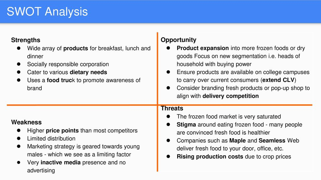 swot analysis of mccain foods