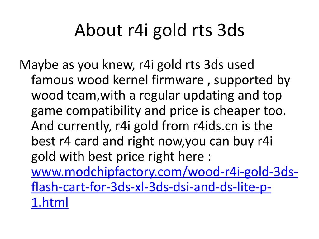 What is the best r4i gold card for Dsi ? - ppt download