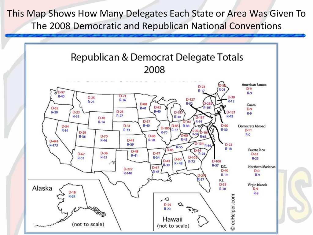 How Many Delegates Per State Map.Nominating Presidential Candidates A Public Process Conducted By
