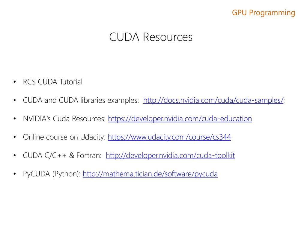 GPU Programming using BU's Shared Computing Cluster - ppt